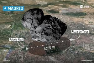 67P sobre Madrid
